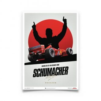 Product image for Michael Schumacher – Ferrari F1-2000 – Suzuka   Automobilist   poster