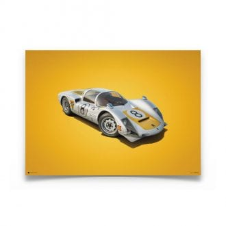Product image for Colours of Speed   Porsche 906 – White – 1967 Japanese GP   Automobilist   Limited Edition poster