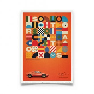 Product image for Lancia Stratos HF Prototype - Orange - 1971 | Automobilist | Limited Edition poster