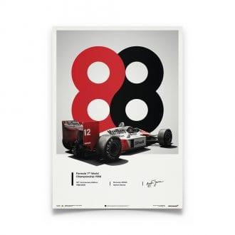 Product image for Ayrton Senna  –  McLaren MP4/4 – 1988 San Marino GP | Automobilist | poster