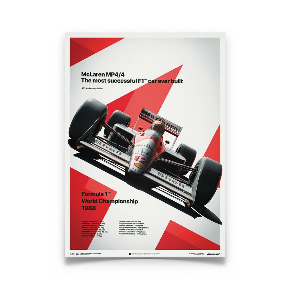 Product image for Ayrton Senna  –  McLaren MP4/4 – 1988 San Marino GP   Automobilist   poster #2