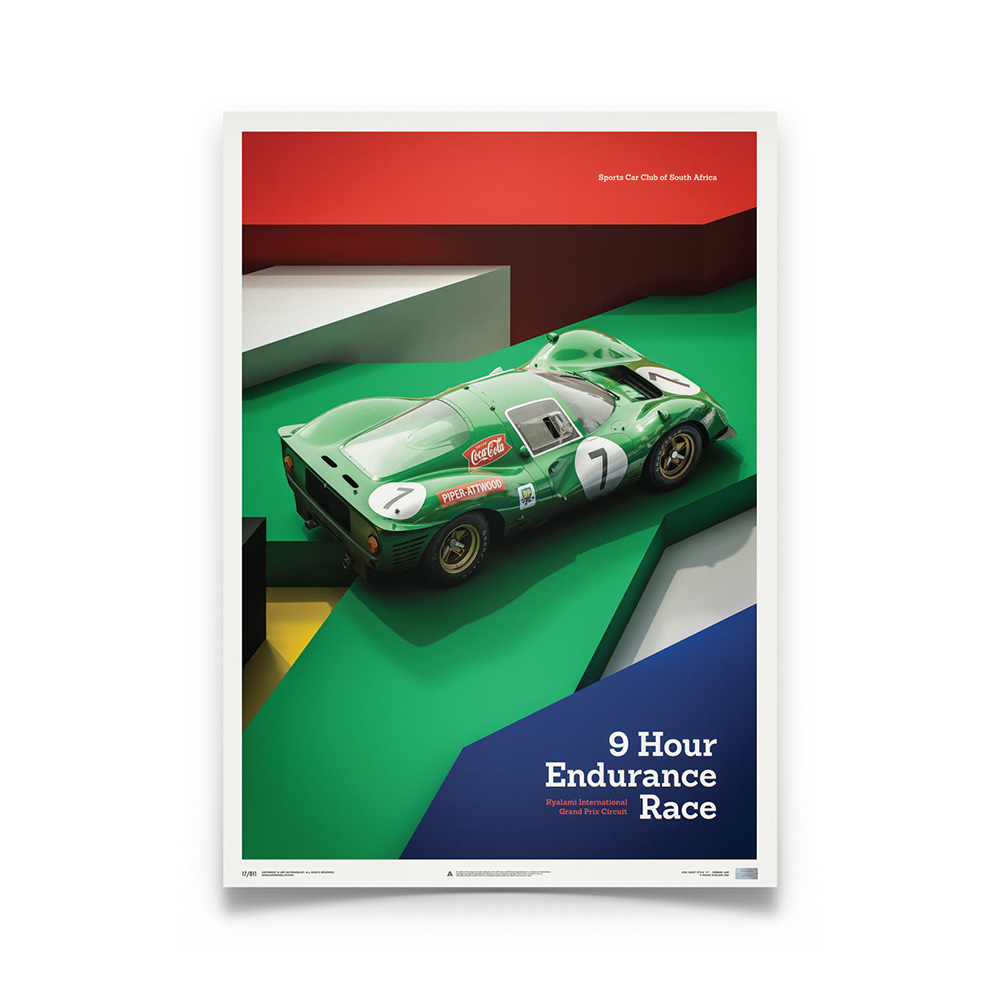 Product image for Ferrari 412P – Green – Kyalami 1967   Automobilist   Limited Edition poster