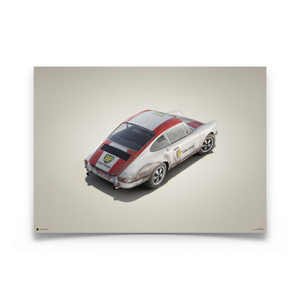 Product image for Colours of Speed   Porsche 911R – BP Racing – 1967 Monza   Automobilist   Limited Edition poster