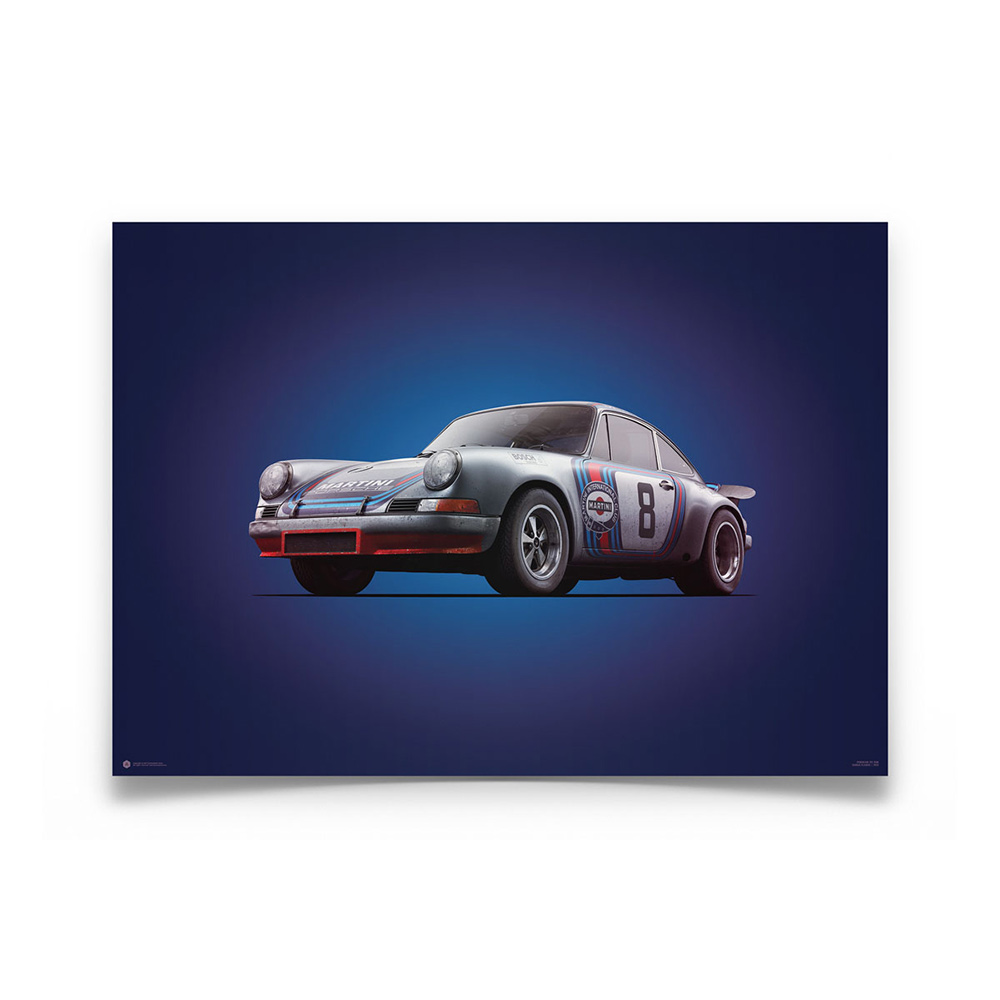 Product image for Colours of Speed   Porsche 911R – Martini – 1973 Targa Florio   Automobilist   Limited Edition poster