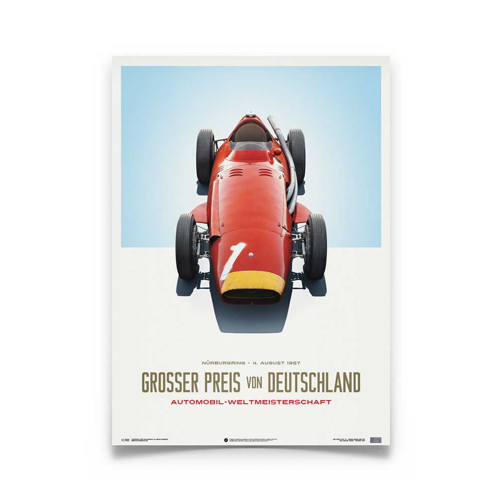 Product image for Juan Manuel Fangio - Maserati 250F - 1957 | Automobilist | Limited Edition poster