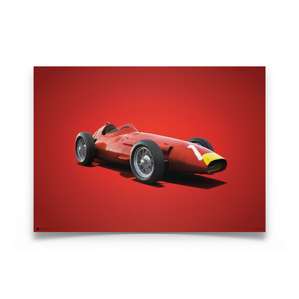 Product image for Juan Manuel Fangio – Maserati 250F – 1957   Automobilist   Limited Edition poster