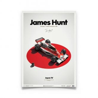 Product image for James Hunt – McLaren M23 – Japanese GP 1976   Automobilist   Limited Edition poster