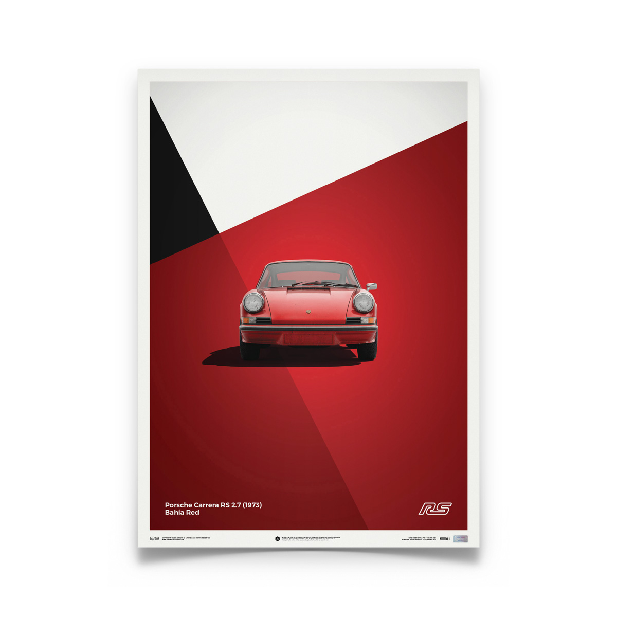 Product image for Porsche 911 RS – Red - 1973 | Automobilist | Limited Edition poster