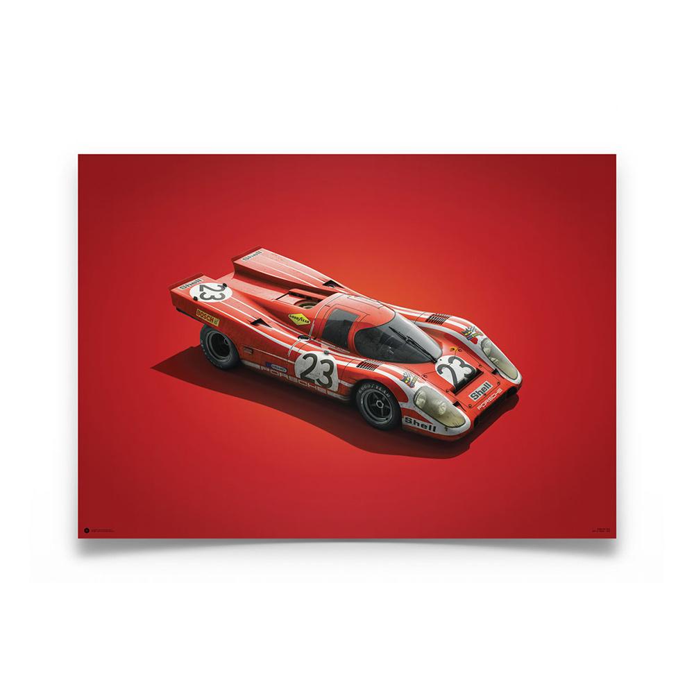 Product image for Colours of Speed | Salzburg Porsche 917K -  Le Mans - 1970 | Automobilist | Limited Edition poster