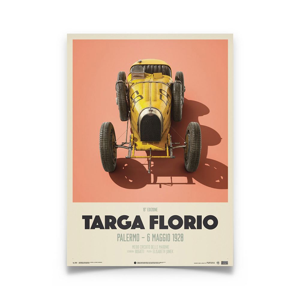 Product image for Bugatti T35 – Targa Florio – 1928 | Automobilist | Limited Edition poster