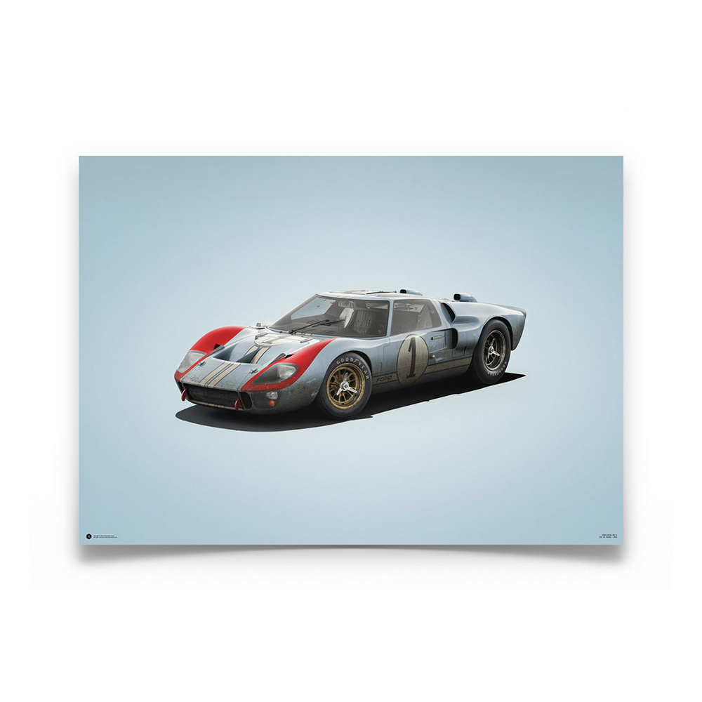 Product image for Ken Miles - Ford GT40 – 1966 Le Mans | Automobilist | Limited Edition poster