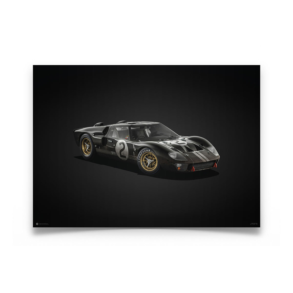 Product image for Colours of Speed | Bruce McLaren – Ford GT40 – Le Mans 1966 | Automobilist | Limited Edition poster