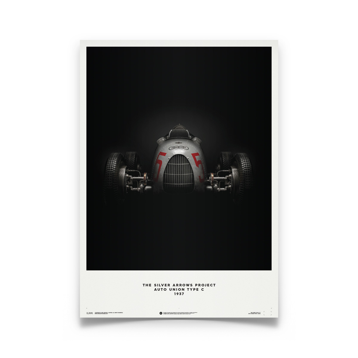 Product image for Bernd Rosemeyer – Auto Union Type C – 1937 | Automobilist | Limited Edition poster