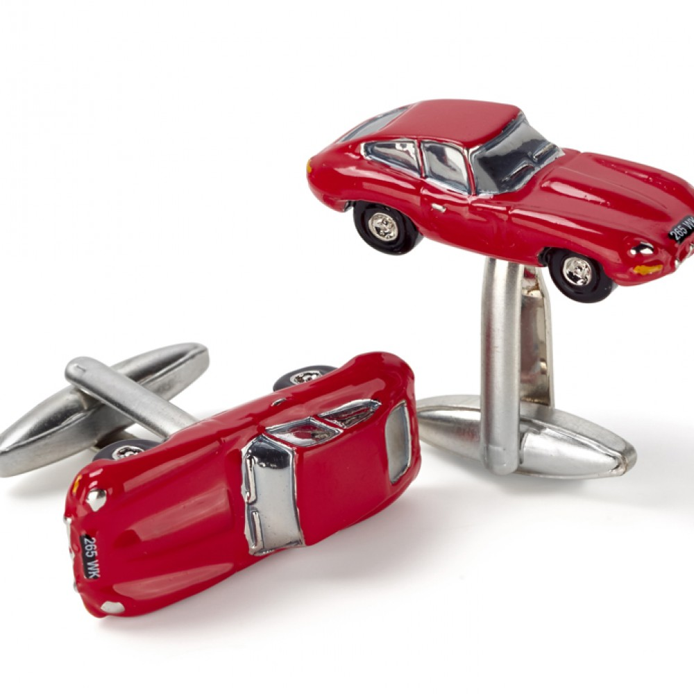 Product image for Jaguar E Type | Red | Cufflinks