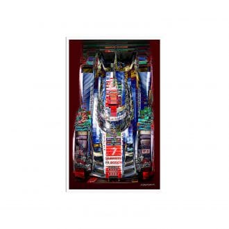 Product image for Audi Quattro R18   Le Mans 2012   Andrew Barber   print