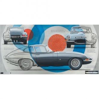Product image for 9600 HP - Jaguar E-type - 1961 | Geoff Bolam | aluminium art print
