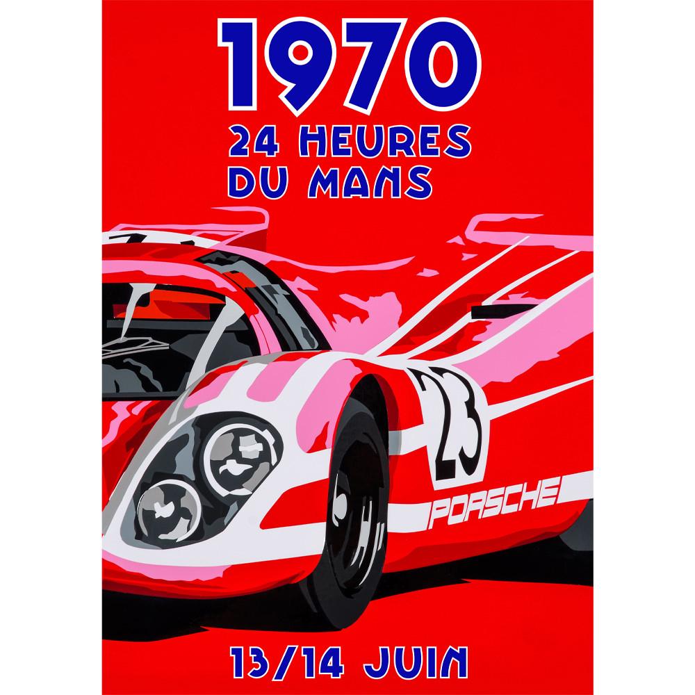 Product image for Salzburg Porsche - 917K - Le Mans 1970 | Joel Clark | Portrait Poster