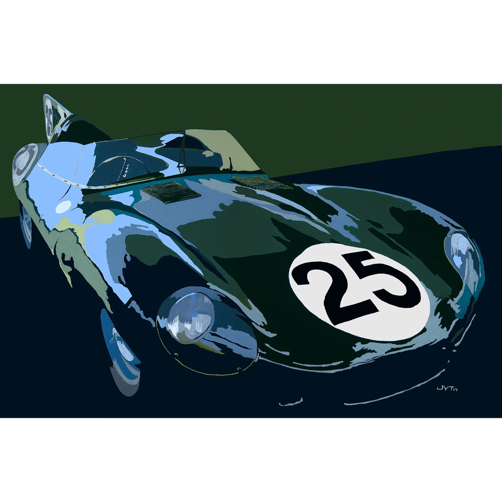 Product image for Jaguar D-Type – Le Mans - 1955 | Jean-Yves Tabourot | Limited Edition print