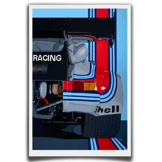 Product image for Turbo Martini | Porsche 911 RSR - 1974 | Jean-Yves Tabourot | Limited Edition print