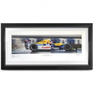 Product image for Champion Elect   Nigel Mansell - Williams FW14B - 1992   signed Nigel Mansell   Limited Edition print