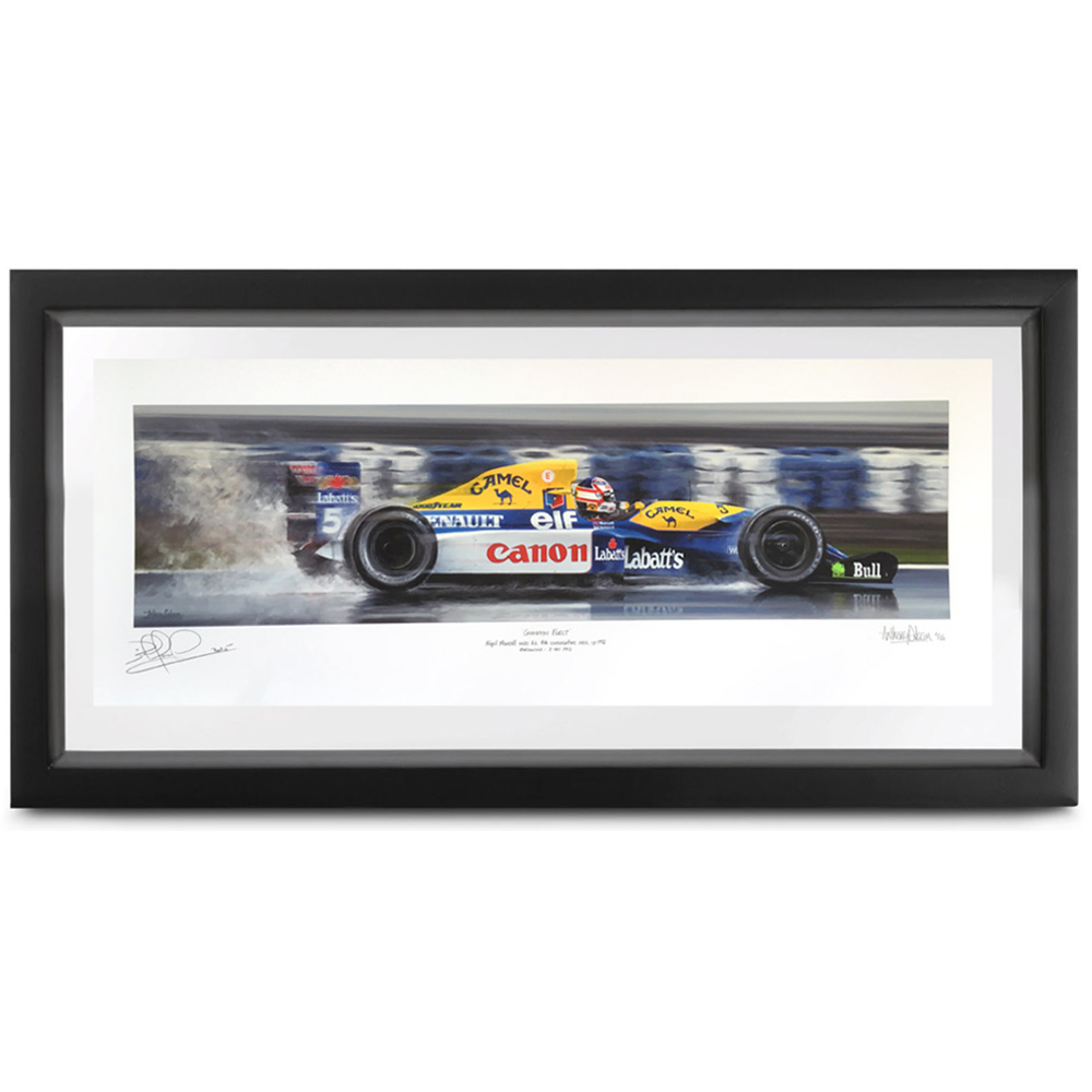 Product image for Champion Elect | Nigel Mansell - Williams FW14B - 1992 | signed Nigel Mansell | Limited Edition print