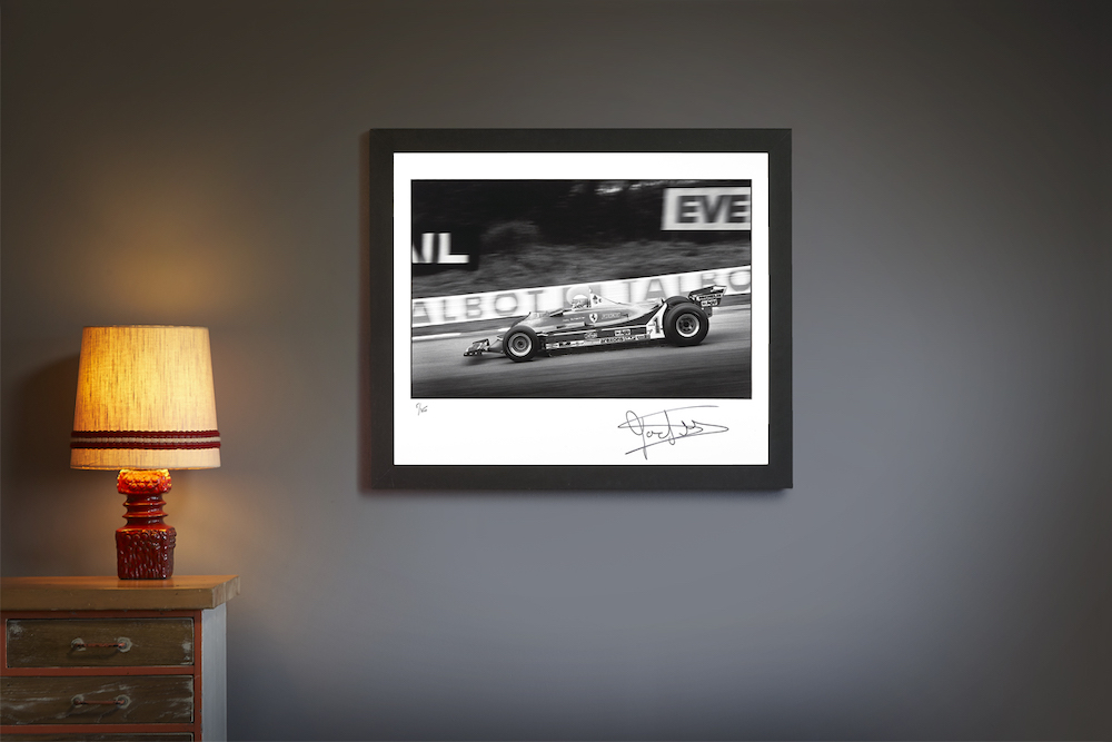 Product image for Jody Scheckter – Ferrari – 1980   Limited Edition print   signed Jody Scheckter