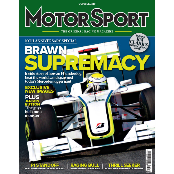 Product image for October 2019   Brawn Supremacy   Motor Sport Magazine