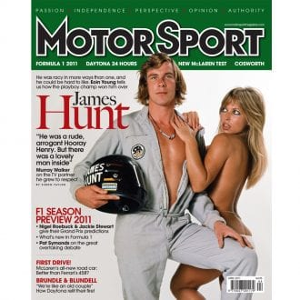 Product image for April 2011 | James Hunt | Motor Sport Magazine