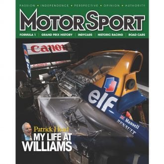 Product image for March 2012 | Patrick Head: My Life At Williams | Motor Sport Magazine