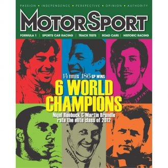 Product image for April 2012   6 World Champions   Motor Sport Magazine