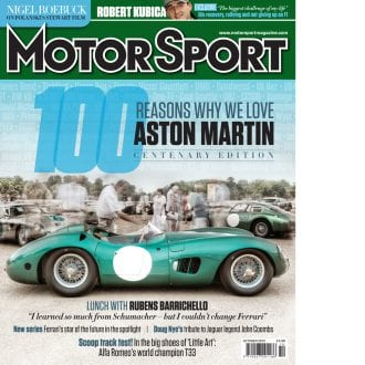 Product image for October 2013| 100 Reasons Why We Still Love Aston Martin | Motor Sport Magazine