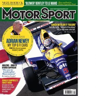 Product image for September 2014 | Adrian Newey: My Top 6 F1 Cars | Motor Sport Magazine