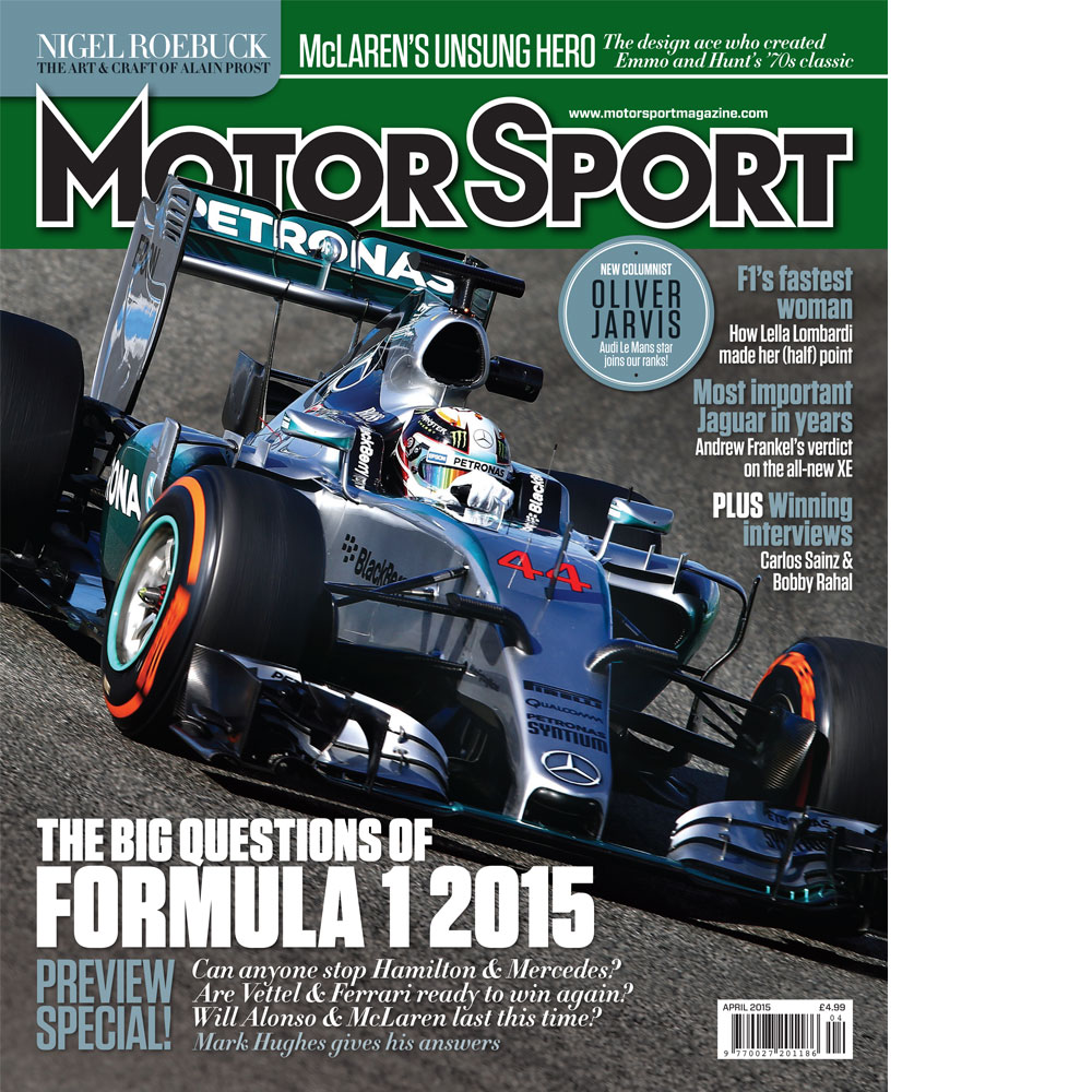 Product image for April 2015   The Big Questions Of Formula 1 2015   Motor Sport Magazine