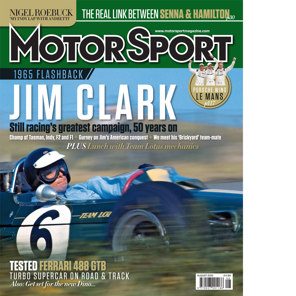 Product image for August 2015   Jim Clark: Racing's Greatest Campaign   Motor Sport Magazine