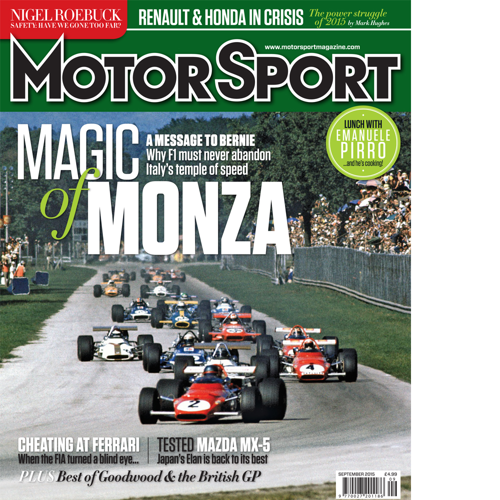 Product image for September 2015   Magic Of Monza   Motor Sport Magazine
