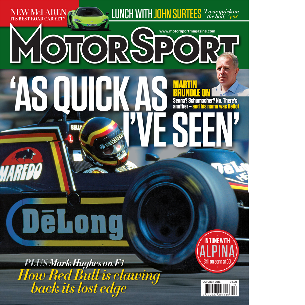 Product image for October 2015   'As Quick As I've Ever Seen'   Motor Sport Magazine