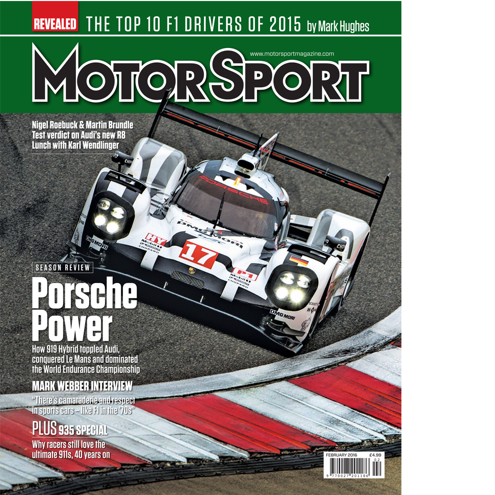 Product image for February 2016   Porsche Power   Motor Sport Magazine