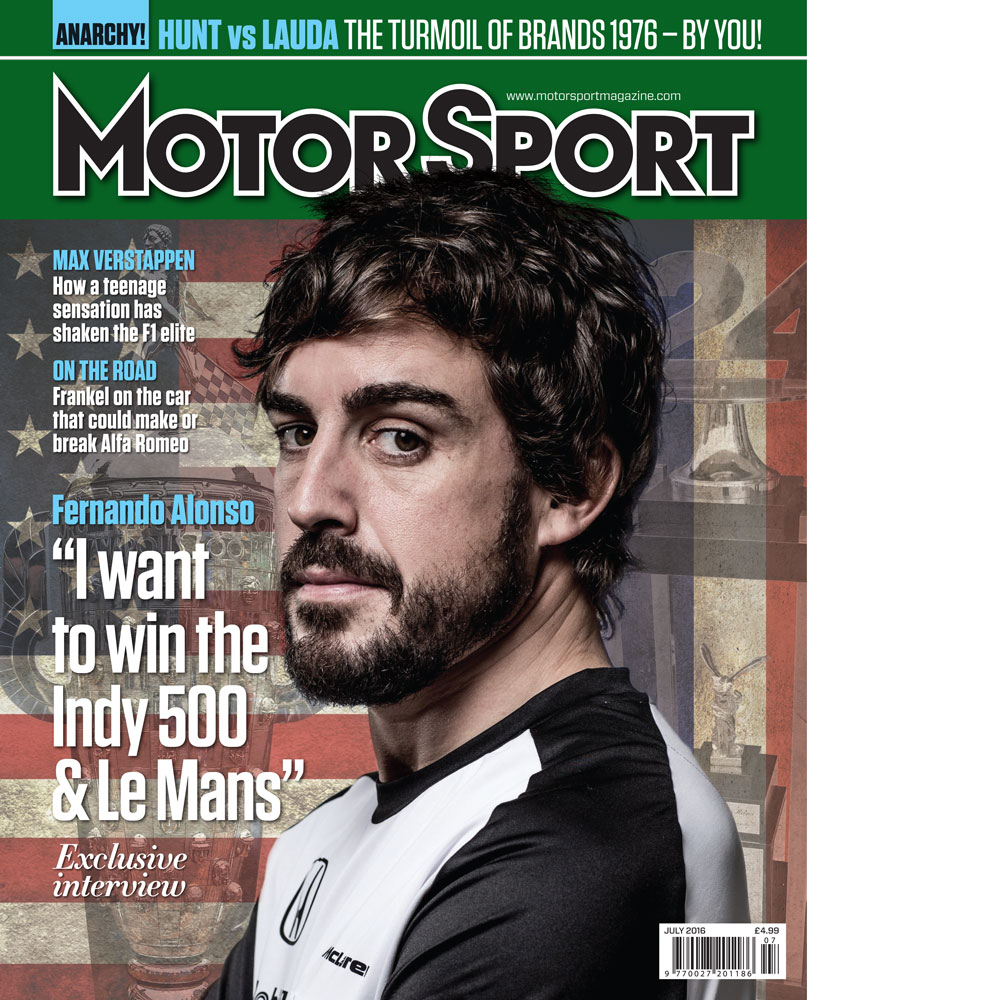 Product image for July 2016   Fernando Alonso: I Want To Win Indy & Le Mans   Motor Sport Magazine