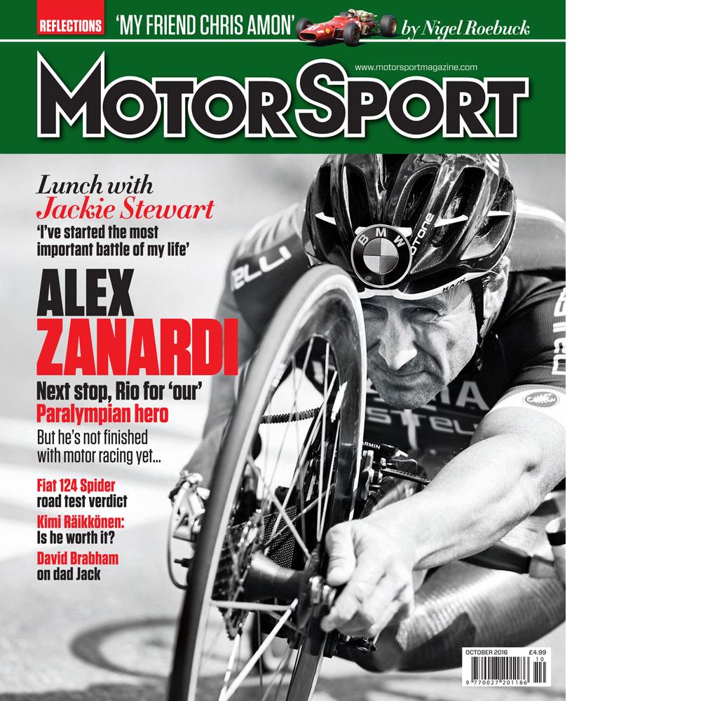 Product image for October 2016   Alex Zanardi: Next Stop Rio   Motor Sport Magazine
