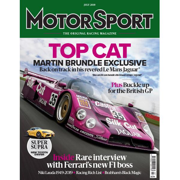 Product image for July 2019   Top Cat: Martin Brundle's Revered Le Mans Jaguar   Motor Sport Magazine