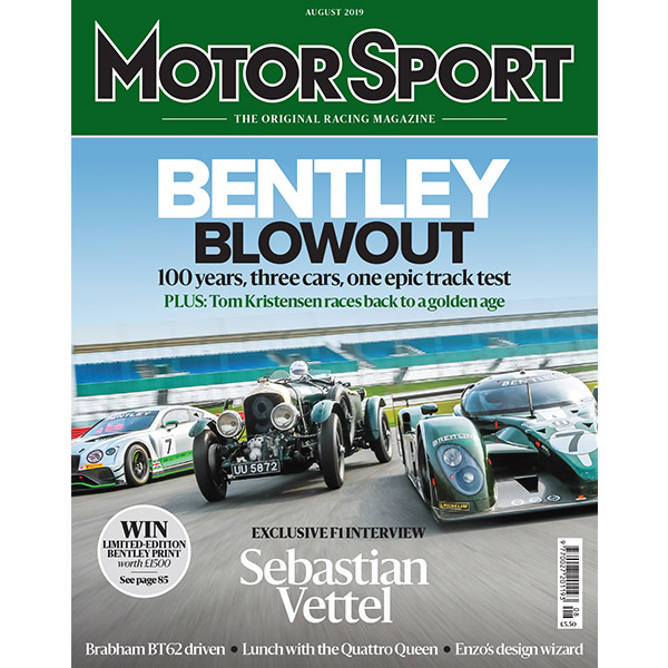 Product image for August 2019   Bentley Blowout   Motor Sport Magazine