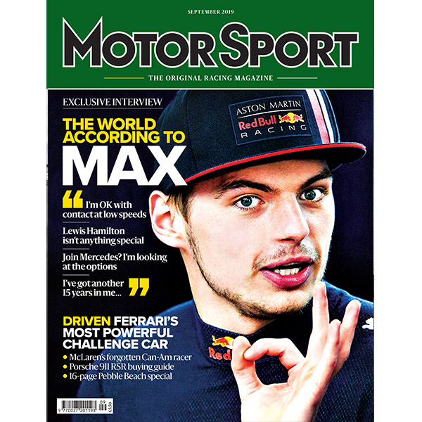 Product image for September 2019   The World According to Max   Motor Sport Magazine