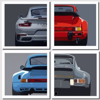 Product image for Modern Classics | Porsche 911 | Jean-Yves Tabourot | Limited Edition print