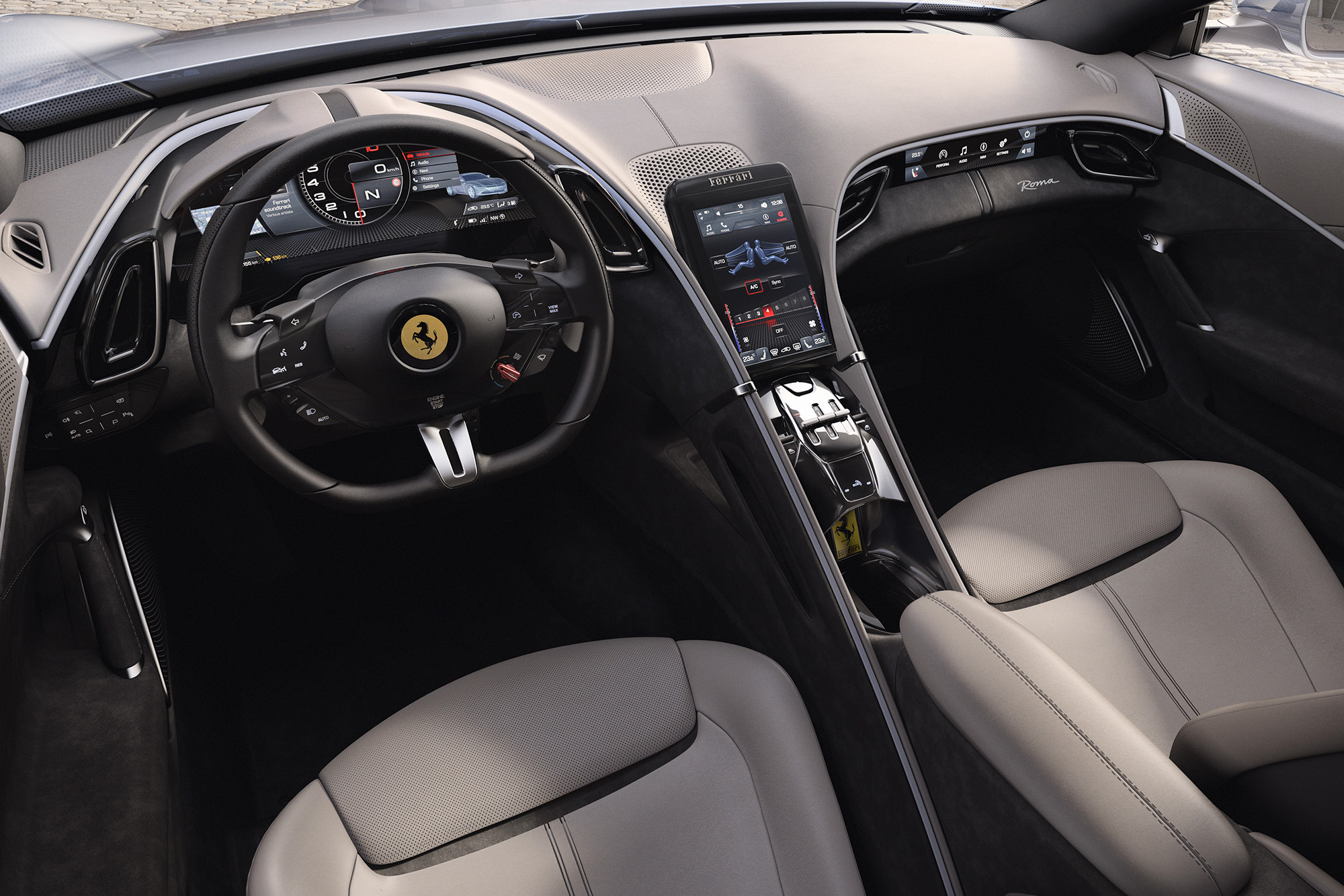 2019 Ferrari Roma interior