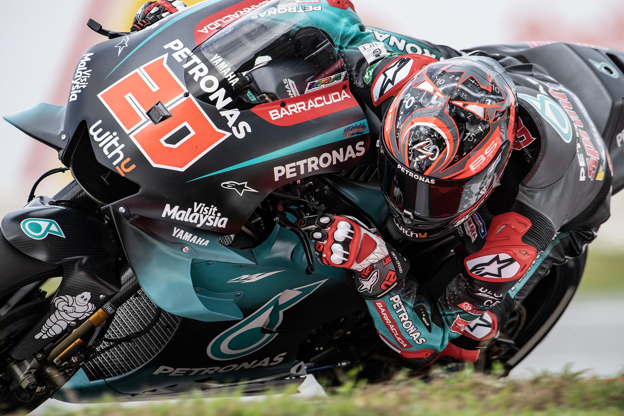 Fabio Quartararo at Sepang during the 2019 MotoGP Malaysian Grand Prix