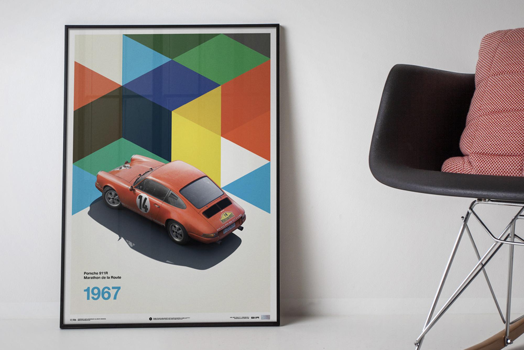 Porsche 911R Automobilist poster