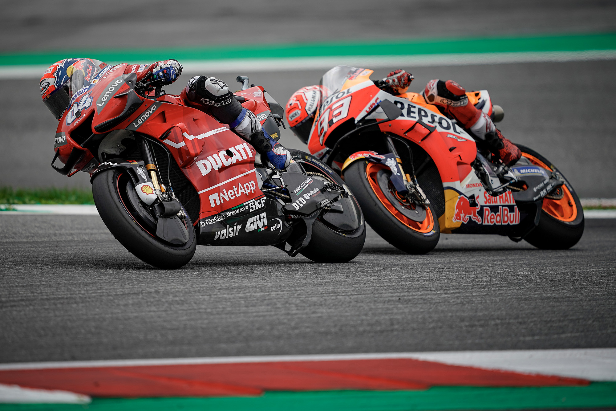 Dovizioso ahead of Marc Marquez in 2019 at the Red Bull Ring