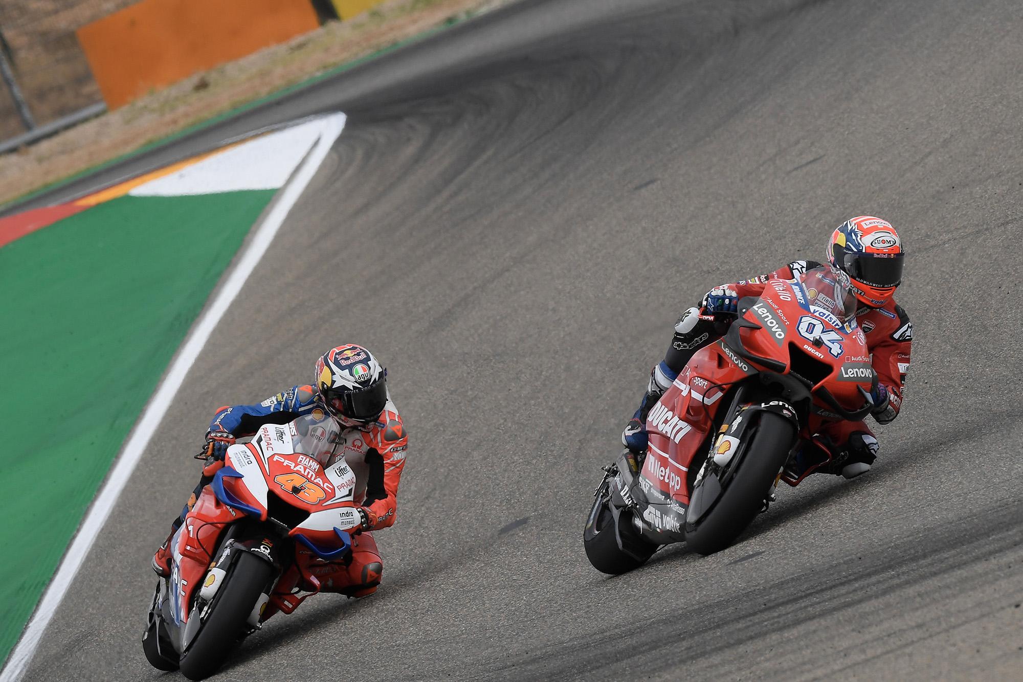 Miller chases Dovizioso at Aragon in 2019