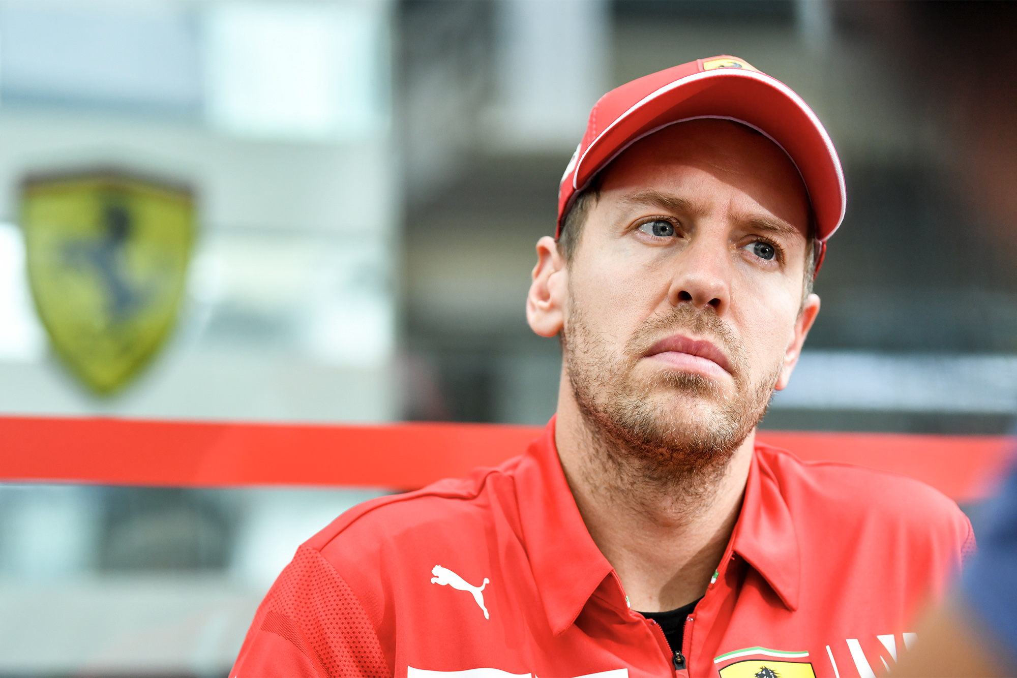 Sebastian Vettel during the 2019 Formula 1 season