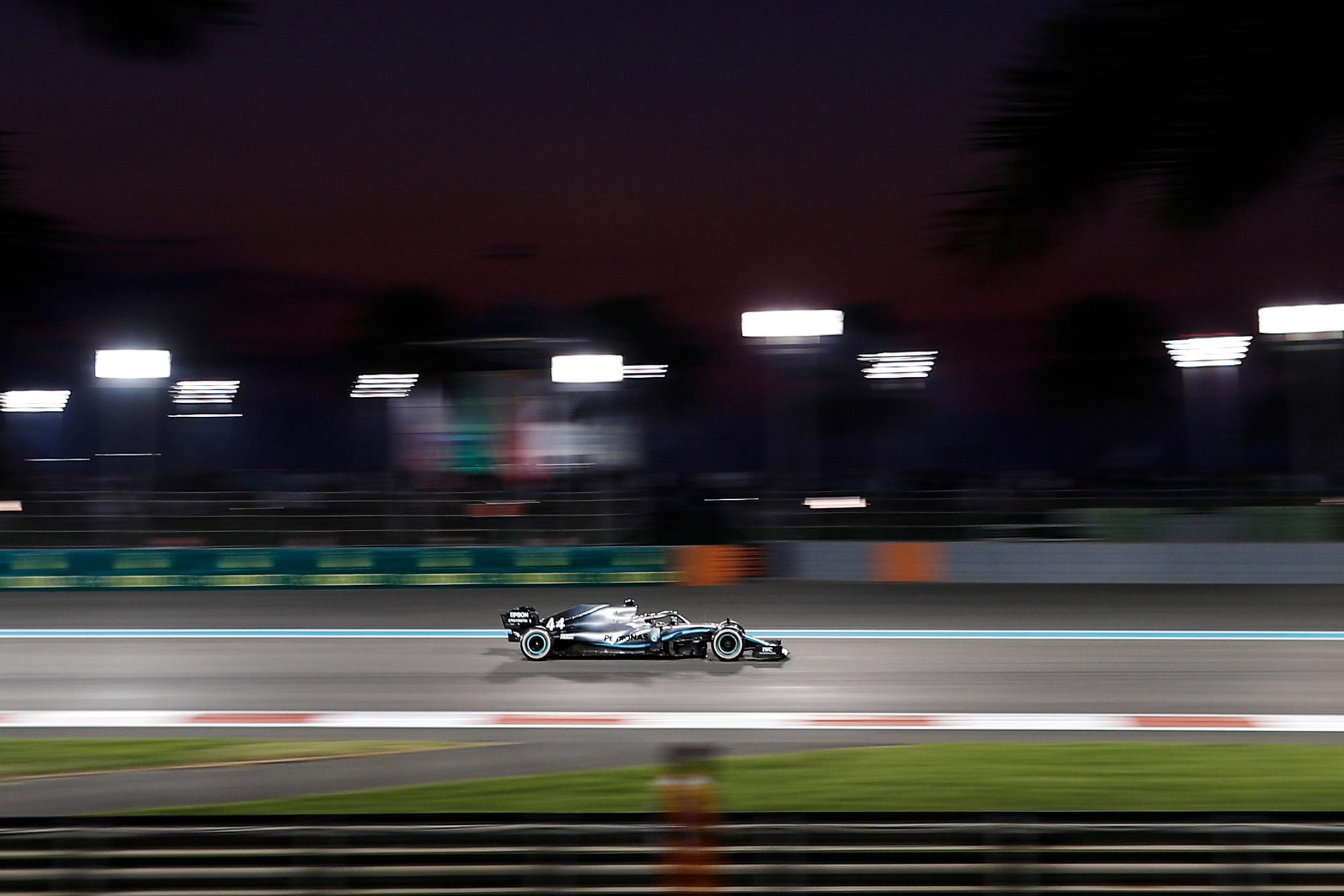Lewis Hamilton during the 2019 Abu Dhabi Grand Prix